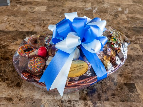 Assorted chocolate basket.