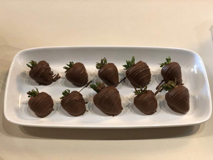 Chocolate covered strawberries.