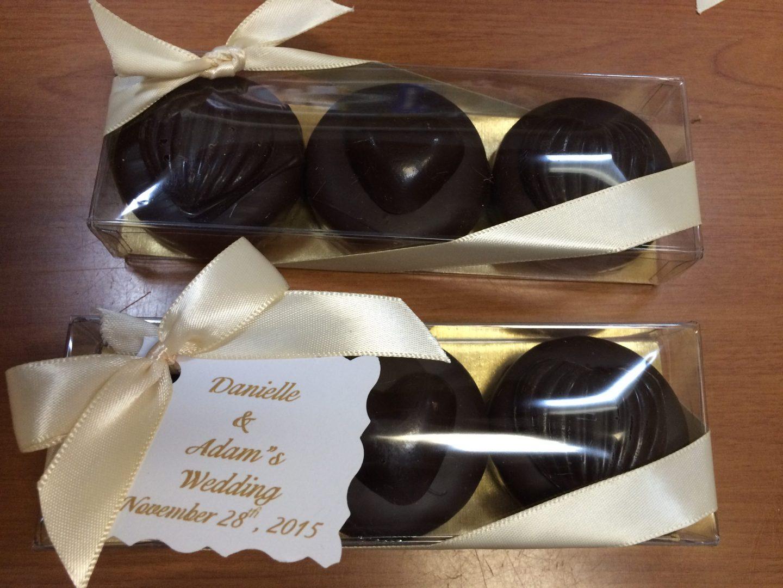 Chocolate wedding favor.