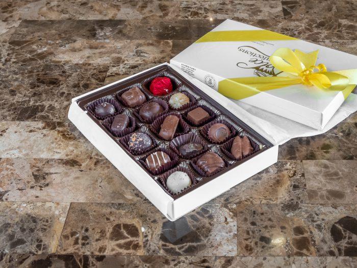 Assorted 1/2 lb. chocolate box.
