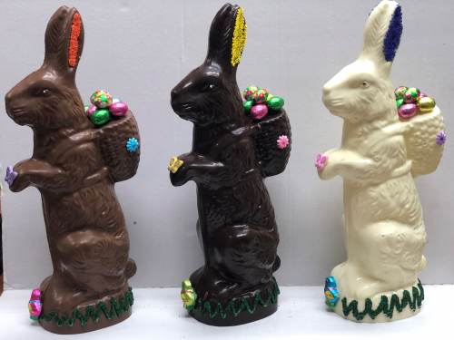 Large Chocolate 3D Bunny
