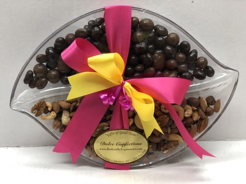 Assorted nuts on a tray.