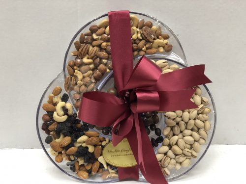 Assorted nuts on a tray