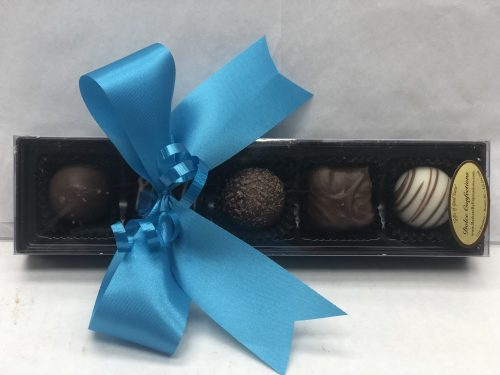 assorted chocolates in a box.