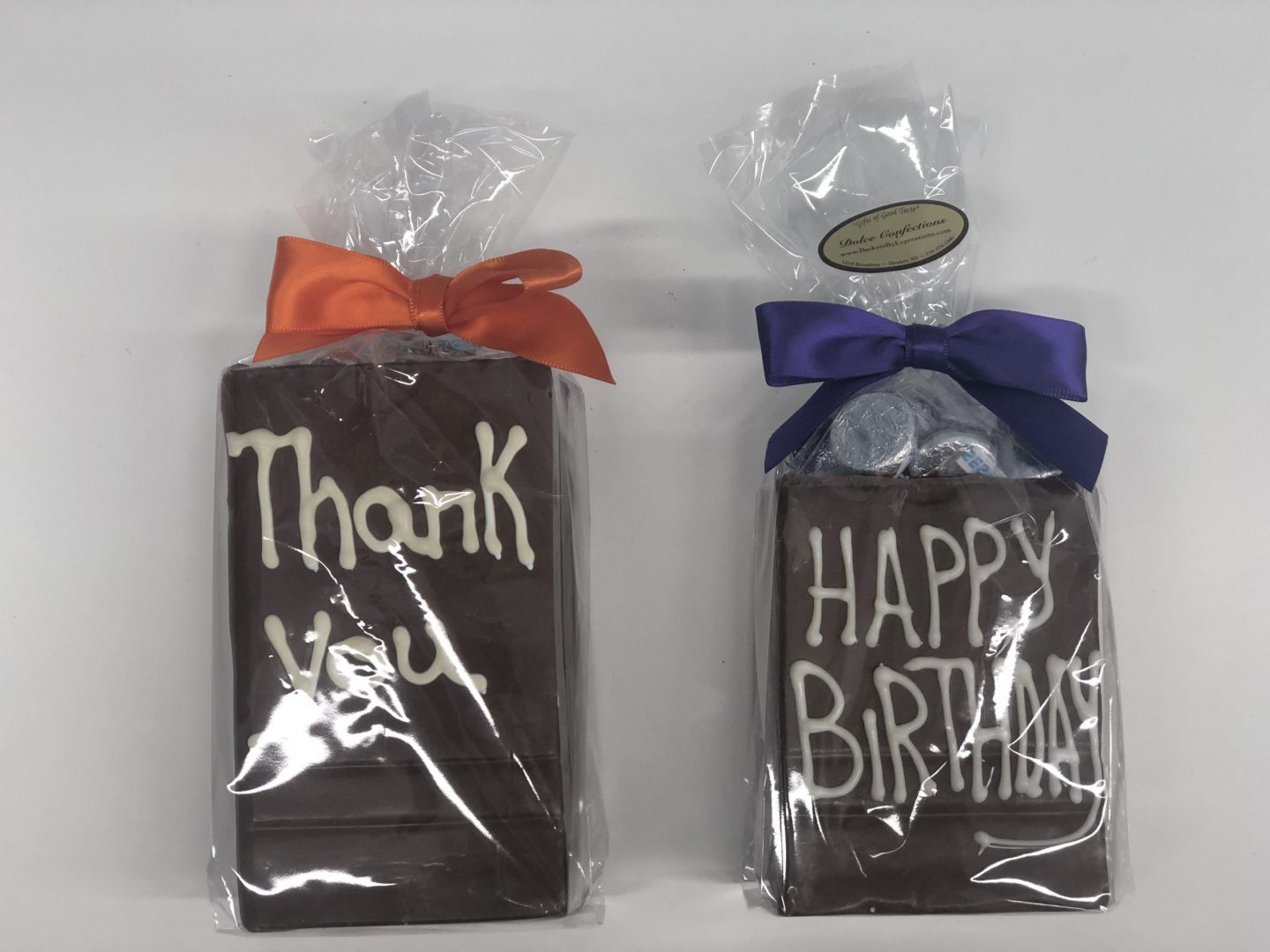 Small & Large chocolate bags filled with candies.